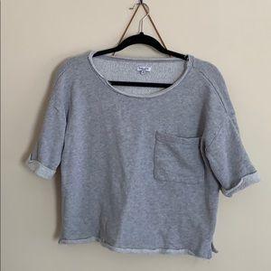 Splendid medium m grey sweatshirt short sleeve top
